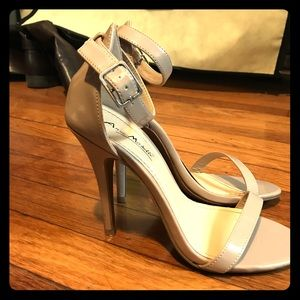 Cream colored stiletto heels
